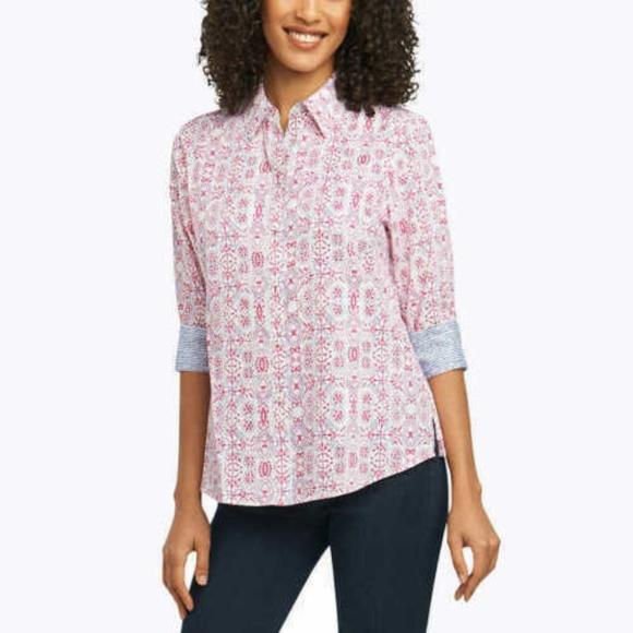 Foxcroft Ladies/' Non Iron Blouse White US Size Small NWT